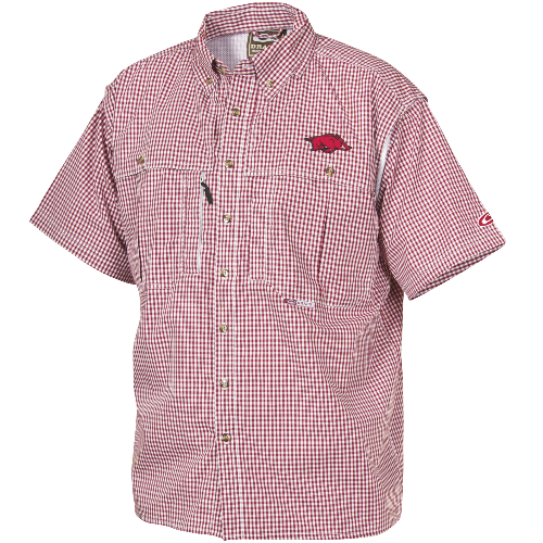 Drake Arkansas Plaid Wingshooter's Shirt Short Sleeve