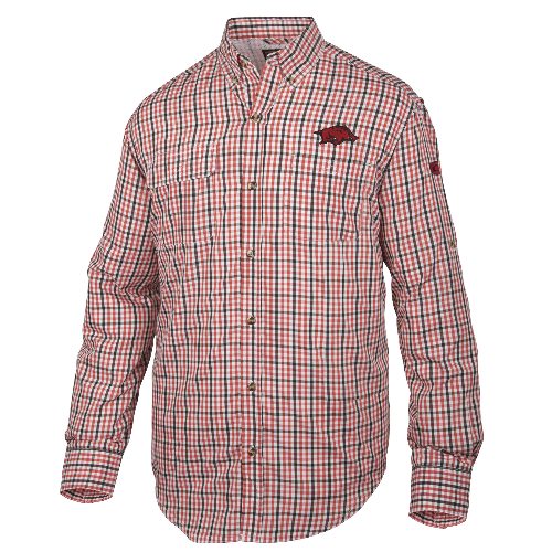 Drake Arkansas Gingham Plaid Wingshooter's Shirt Long Sleeve
