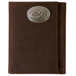 Drake Leather Tri-Fold Wallet