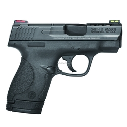 "Smith & Wesson 10108 M&P 9 Shield Double 9mm Luger 3.1"" Ported 7+1/8+1 Black Polymer Grip Black Stainless Steel"