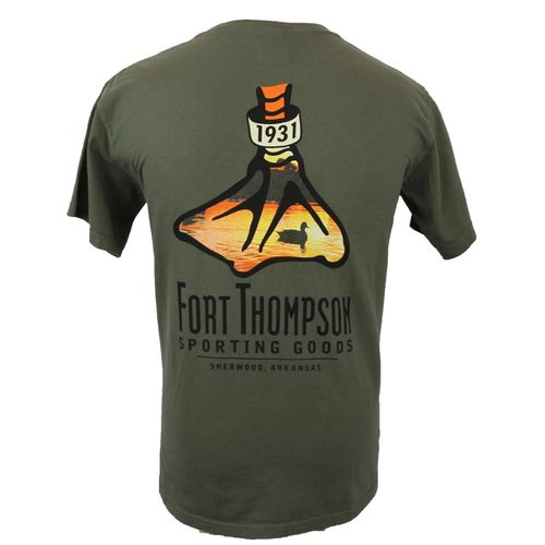 Fort Thompson Sunset Duck Foot Tee