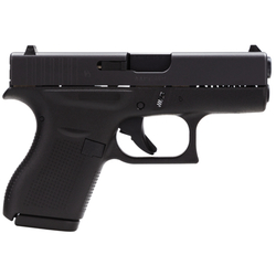 "Glock UI4250201 G42 380 ACP 3.25"" 6+1 FS Poly Grip/Frame Black"