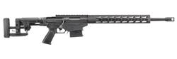 """Ruger 18008 Precision Rifle Bolt 6.5 Creedmoor 24"""" MB 10+1 Folding Left Side Adjustable Black Stk Black"""