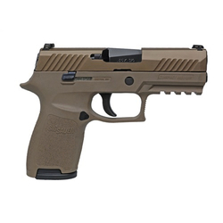 "Sig Sauer 320C9FDE P320 Compact Double 9mm 3.9"" 15+1 NS FDE Poly Grip/Frame Flat Dark Earth"