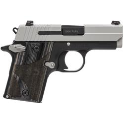 "Sig Sauer 9389BGAMBI P938 Ambidextrous Single 9mm 3"" 6+1 NS Blackwood Grip 2Tone"