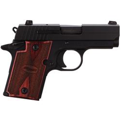 "Sig Sauer 9389RGAMBI P938 Ambidextrous Single 9mm 3"" 6+1 NS Rosewood Grip Black"
