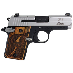 """Sig Sauer 9389SASAMBI P938 SAS 9mm SAO 3"""" Ambi Safety 6+1 Goncalo Wood Blk/SS"""