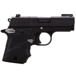 "Sig Sauer 938-9-SPORTS13 P938 Ambi Single 9mm 3"" 6+1 Black Rubber Wrap Around"