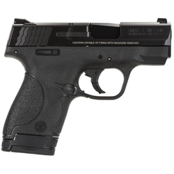 "Smith & Wesson 10035 M&P 9 Shield Double 9mm Luger 3.1"" 7+1/8+1 Black Polymer Grip/Frame Grip Black Stainless Steel"