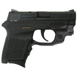"Smith & Wesson 10178 M&P Bodyguard 380 with Crimson Trace Green Laserguard Double 380 Automatic Colt Pistol (ACP) 2.75"" 6+1 Black Polymer Grip/Frame Grip Black Stainless Steel"