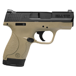 "Smith & Wesson 10180 M&P 40 Shield Double 40 Smith & Wesson (S&W) 3.1"" 6+1/7+1 Flat Dark Earth Polymer Grip Black Stainless Steel"