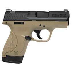 "Smith & Wesson 10303 M&P 9 Shield Double 9mm Luger 3.1"" 7+1/8+1 Flat Dark Earth Polymer Grip/Frame Grip Black Stainless Steel"