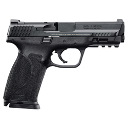 """Smith & Wesson 11521 M&P 9 M2.0 Double 9mm Luger 4.25"""" 17+1 Black Interchangeable Backstrap Grip Black Stainless Steel"""