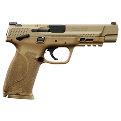 """Smith & Wesson 11537 M&P 9 M2.0 Double 9mm Luger 5"""" 17+1 Flat Dark Earth Interchangeable Backstrap Grip Flat Dark Earth Stainless Steel"""