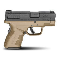 "Springfield Armory XDG9801FDEHC XD Mod.2 Sub-Compact Double 9mm 3"" 13+1/16+1 w/X-Tension Flat Dark Earth"
