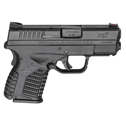 "Springfield Armory XDS93340BE XD-S Double 40 Smith & Wesson (S&W) 3.3"" 6+1/7+1 Grip Extension Black"