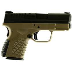 "Springfield Armory XDS93340DEE XD-S Double 40 S&W 3.3"" 5+1 FDE Interchangeable Backstrap Grip Black"