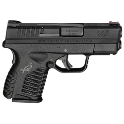 "Springfield Armory XDS93345BE XD-S Essential 45 ACP DAO 3.3"" 5+1 Poly Grip/Frame Black"