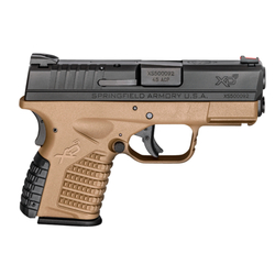 "Springfield Armory XDS93345DEE XD-S Double 45 Automatic Colt Pistol (ACP) 3.3"" 5+1/6+1 Grip Extension Flat Dark Earth"