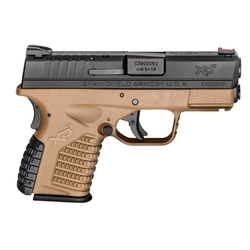 "Springfield Armory XDS9339DEE XD-S 9mm Double 3.3"" 7+1/8+1 Grip Extension Flat Dark Earth"