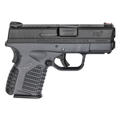 "Springfield Armory XDS9339YE XD-S 9mm Single 3.3"" 7+1/8+1 (Grip Extension) Gray Polymer Grip"