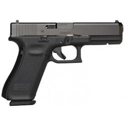 """Glock PA1750203 G17 Gen5 Double 9mm Luger 4.49"""" 17+1 FS Black Interchangeable Backstrap Grip Black nDLC"""