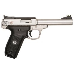 "Smith & Wesson 108490 SW22 Victory Single 22 Long Rifle 5.5"" 10+1 Black Polymer Grip Stainless"