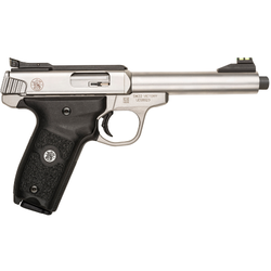 "Smith & Wesson 10201 SW22 Victory Single 22 Long Rifle 5.5"" TB 10+1 Blk Polymer Grip Stainless"