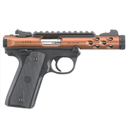 "Ruger 43909 Mark IV 22/45 Lite Single/Double 22 Long Rifle (LR) 4.4"" 10+1 Black Polymer Grip Bronze Anodized"