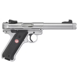"Ruger 40126 Mark IV Target Single/Double 22 Long Rifle (LR) 5.5"" 10+1 Black Synthetic Grip Stainless Steel"