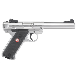 "Ruger 40103 Mark IV Target Double 22 Long Rifle (LR) 5.5"" 10+1 Black Synthetic Grip Stainless Steel"