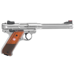 "Ruger 40118 Mark IV Hunter Double 22 Long Rifle (LR) 6.88"" 10+1 Laminate Wood Grip Stainless Steel"