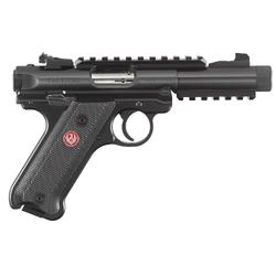 "Ruger 40150 Mark IV Tactical Double 22 Long Rifle (LR) 4.4"" 10+1 Black Aluminum Grip Black"