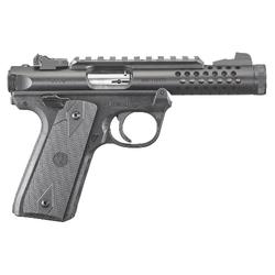 """Ruger 43906 Mark IV 22/45 Lite Double 22 Long Rifle (LR) 4.4"""" 10+1 Black Polymer Grip Black"""