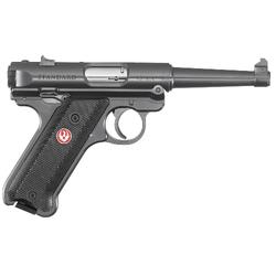 """Ruger 40104 Mark IV Standard Double 22 Long Rifle (LR) 4.75"""" 10+1 Black Aluminum Grip Blued"""