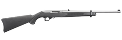 """Ruger 1256 10/22 Carbine Semi-Automatic 22 Long Rifle 18.5"""" 10+1 Synthetic Black Stk Stainless Steel"""