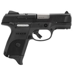 """Ruger 3314 SR9C Compact Double 9mm Luger 3.4"""" 17+1 Black Polymer Grip Black"""