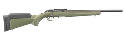 "Ruger 8336 American Rimfire Standard Bolt 17 Hornady Magnum Rimfire (HMR) 18"" 9+1 Synthetic OD Green Stock Blued"