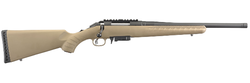 "Ruger 16976 American Ranch Bolt 7.62x39mm 16.12"" 5+1 Synthetic Flat Dark Earth Stock Black"