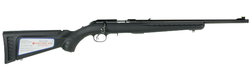 "Ruger 8305 American Rimfire Standard Bolt 22 Long Rifle (LR) 18"" TB 10+1 Synthetic Black Stock Blued"