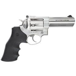 "Ruger 1705 GP100 Standard Single/Double 357 Magnum 4.2"" 6 rd Black Hogue Monogrip Grip Stainless Steel"