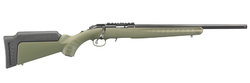 "Ruger 8334 American Rimfire Standard Bolt 22 Long Rifle (LR) 18"" 10+1 Synthetic OD Green Stock Blued"
