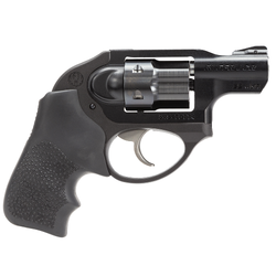 "Ruger 5414 LCR DAO Double 22 Winchester Magnum Rimfire (WMR) 1.87"" 6 rd Black Hogue Tamer Monogrip Grip Black"