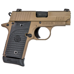"Sig Sauer 238380ESCPN P238 Micro-Compact Emperor Scorpion Single 380 Automatic Colt Pistol (ACP) 2.7"" 6+1/7+1 Black Hogue G10 Piranha Grip Flat Dark Earth Nitron Stainless Steel"