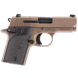 "Sig Sauer 9389ESCPNAMBL P938 Micro-Compact Emperor Scorpion Single 9mm Luger 3.5"" TB 6+1/7+1 Black Hogue G10 Piranha Grip Flat Dark Earth Stainless Steel"
