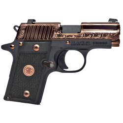 "Sig Sauer 238380ERG P238 Micro-Compact Rose Gold Single 380 Automatic Colt Pistol (ACP) 2.7"" 6+1 Black G10 Grip Rose Gold PVD Stainless Steel"