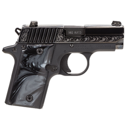 "Sig Sauer 238380ESB P238 Micro-Compact Black Pearl Single 380 Automatic Colt Pistol (ACP) 2.7"" 6+1 Black Pearlite Grip Black Nitron Stainless Steel"