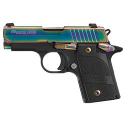 Sig Sauer 9389EDGEAMBI P938 Edge 9MM Rainbow/G10 AMB