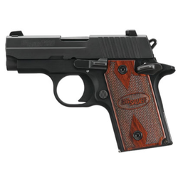 """Sig Sauer 238380RG P238 Micro-Compact Rosewood Single 380 Automatic Colt Pistol (ACP) 2.7"""" 6+1 Rosewood Grip Black Nitron Stainless Steel"""